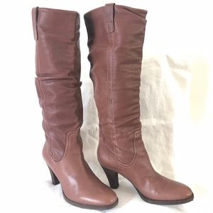 """Via Spiga """"Forte"""" Tall Brown Leather Boots sz 9.5"""